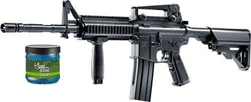 g8ds Set: Softair Gewehr Oberland Arms OA-15 M4 RIS AEG elektrisch unter 0,5 Joule 6mm + Umarex Combat Zone Softairkugeln blau 6mm 0,12g 5000 BBS (M4 Softair Gewehr Elektrisch)