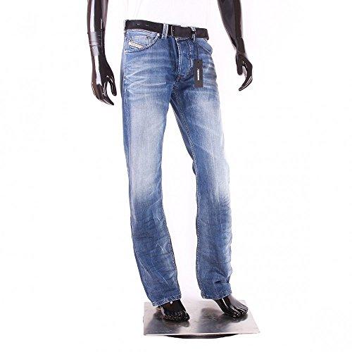 Diesel Herren Larkee 0849A Regular Straight Jeans, Blau, 32W x 34L