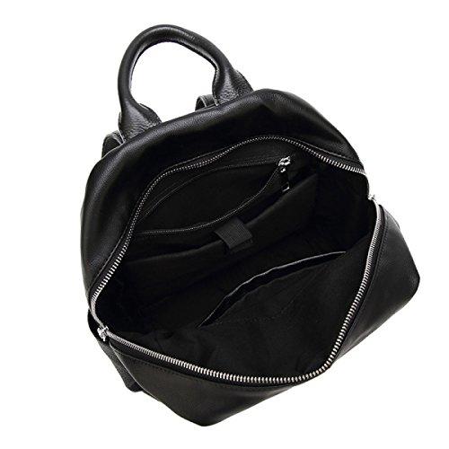 BAAFG Niet-Schulter-Beutel Frauen-Segeltuch Oxford-Beutel-Rucksack Große Kapazität Einfache Spielraum-Beutel Black