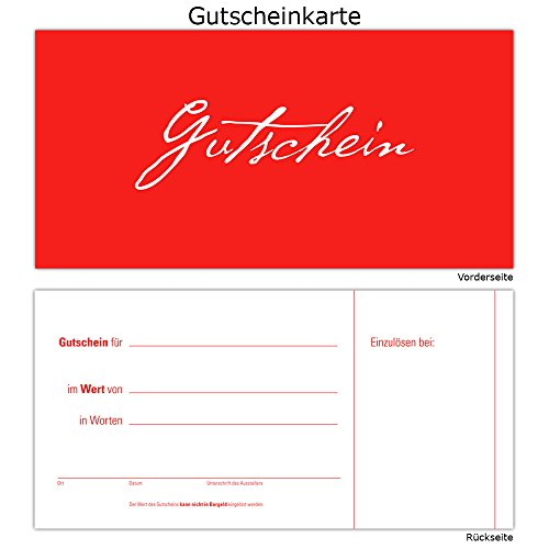 100 Gutscheine Gutscheinkarten Geschenkgutscheine – edel neutral Rot