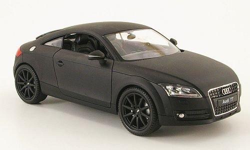 Audi TT Coupe, mattschwarz, Modellauto, Fertigmodell, Welly 1:24