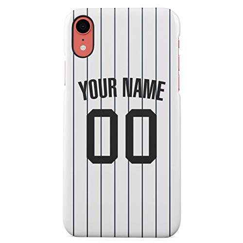 (Baseball Jersey Personalized Customizable Custom Name Initiale Text Create Your Own Gift Present Schutzhülle aus Hartplastik Handy Hülle für iPhone Xr Case Hard Cover)