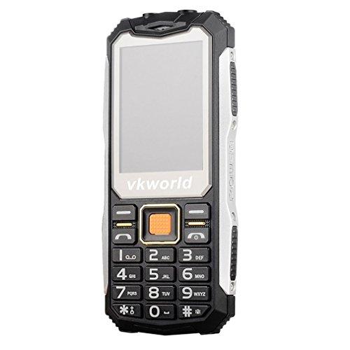 Handy 2G VKWorld Stone V3S 2.4 inch QCIF(240X320) Wasserdicht Staubdicht Stoßfest Mobiltelefon für Senioren 0.3MP 32M+32M Dual SIM Ohne Vertrag GSM unterstützung NFC Outdoor Entsperrt handy(Schwarz) Outdoor-tastatur