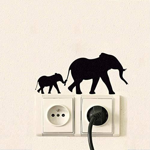 Ajacklove Interruptor Pegatinas Dos Elefantes ExtraíBles Pegatinas De Pared Kids Nursery Baby...