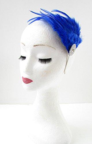 Bibi à plumes Bleu/argenté Diamante bandeau bandeau strass ANNÉES Z04 * * * * * * * * exclusivement vendu par – Beauté * * * * * * * *