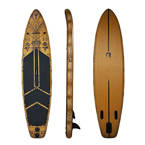 LJJY Beginner Leggero 12.6SUP tavola polpa Verticale Gonfiabile 15PSI Kit tavola da Surf con Grandi Pinne Zaino Rimovibile polpa Bordo Pompa Manuale Piede Corda Strumento di Riparazione