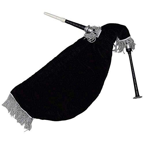 Marke neuen schottischen Gans Dudelsack schwarz Farbe Silber Halterungen schwarz Samtbeutel