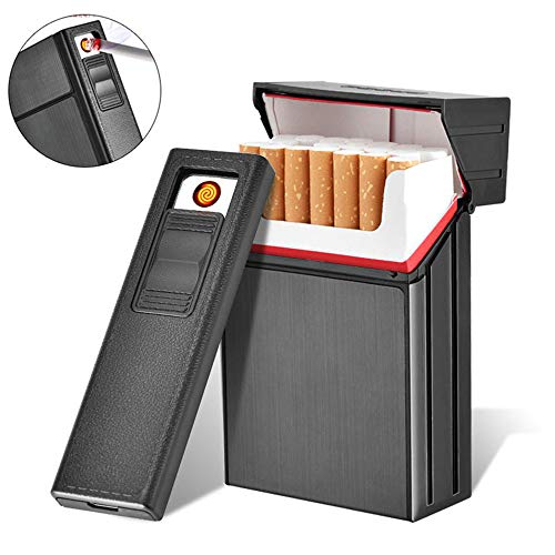 AUOKER Cigarette Case Box with E...