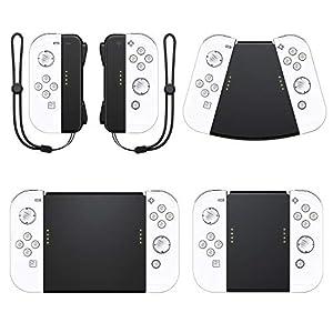 Vivefox Nintendo Switch Joy Con Griffe, 5-in-1-Handgriffe, Anschluss für Nintendo Switch Joy Cons Gamepad Griff mit Handgelenkschlaufe Joy-Con Grip Kit Switch Controller Griff Kit