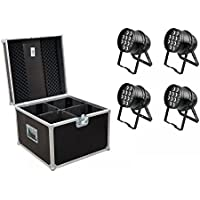 Euro Lite Set 4 x LED PAR-64 HCL 12 x 10 W Nero + Case PRO