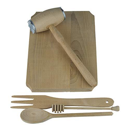 Rectangulaire planche en bois + 4 planche à découper Ustensiles en bois et une idée de cadeau parfait