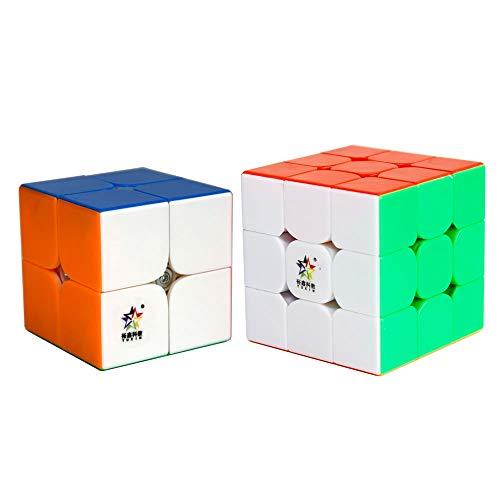 Ojin Yuxin Little Magic Speed Cube Bundle 2x2 3x3 Bright Magic Cube Set Speed Cube Puzzle Sets Pack De 2 Smooth Puzzle Cube 2x2x2 3x3x3 Colección