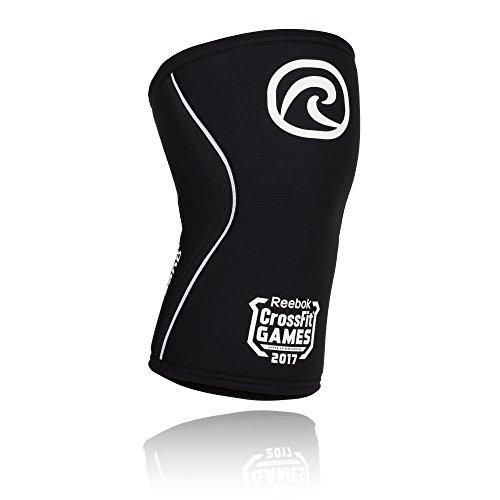 Rehband CrossFit® Games Limited Edition 7 mm Neopren Rx-Kniebandage, Kniestütze, Kniegelenk-Bandage, Kniebandage-Krafttraining, Farbe:schwarz, Größe:XS