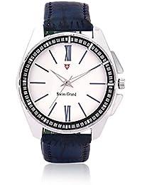 Swiss Grand Analogue Silver Dial Men's Watch - 1188