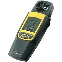 Digital Termo Anemómetro 4000 pies por minuto Velocidad Velocidad Temperatura Termómetro mph m / s + incorporado en función de retención de datos de paleta rotatoria +