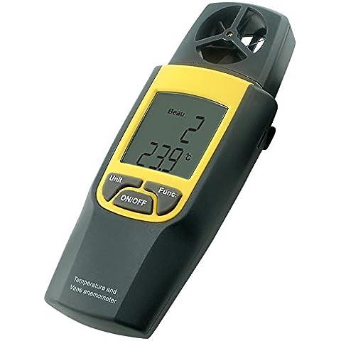 Digital Termo Anemómetro 4000 pies por minuto Velocidad Velocidad Temperatura Termómetro mph m / s + incorporado en función de retención de datos de paleta rotatoria