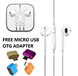 #4: Humble™ Earphones Handsfree Headphones Earpods With Mic And Volume Button For Apple iPhone, iPad, iPod, Android Phones with 3.5MM Jack-White