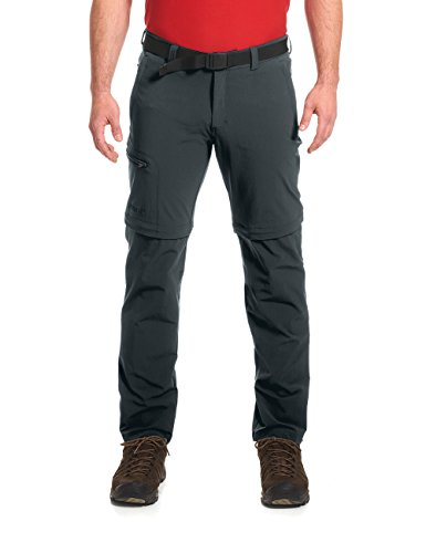 maier sports Herren Outdoor Hose T-Zipp Tajo, Graphite, 52