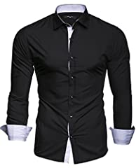Idea Regalo - Kayhan Uomo Camicia, TwoFace Black XL