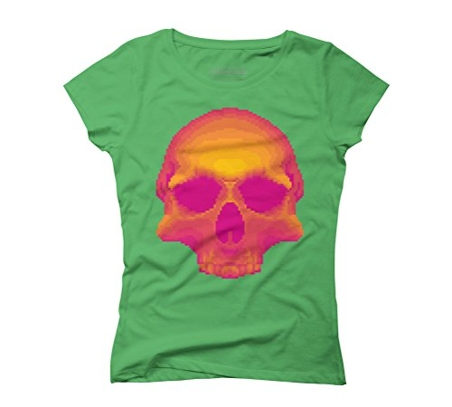 PNK Women's Graphic T-Shirt - Design By Humans Green