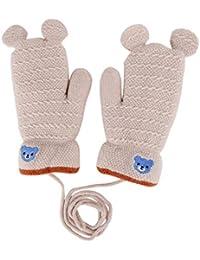 Damen Kinder Warmer Igel Handschuhe Gestrickte Winter Warm Fleece Fäustlinge