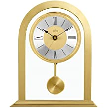 Acctim 36938 Colney Metal y cristal reloj de mesa en oro