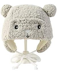 Doitsa bebé Sombrero Otoño Invierno Protección Orejas Gorro de Lana Peluche  Forma de Oso marrón para niño niña… 264d13ac559