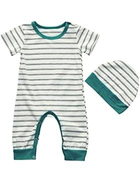 Omiky® Baby-Mädchen-Blumenkleidung-Overall-gesetzter Spielanzug + Stirnband 2pcs Outfits-Kleidung