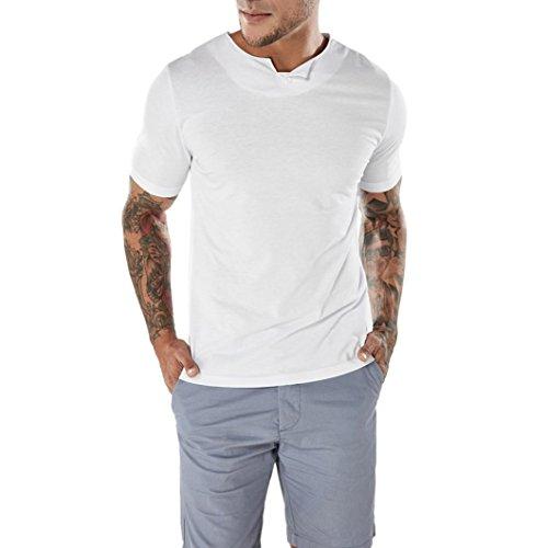 TUDUZ Oversize Herren Männer Sommer Kurzarm Shirt Slim-Fit Rundhals Basic T-Shirt Pullover Muskelshirt Sweatshirt S-XXL (Lustige Selbstgemachte Halloween Kostüme)