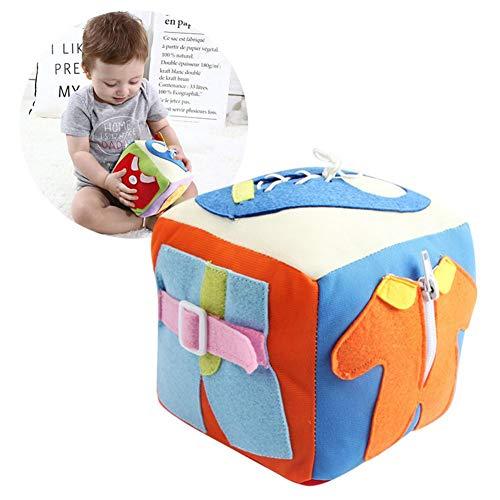 Per Libros Blandos Juguetes Montessori Cubos de Aprendizaje Juguete de Enseñar Vestir Preescolar