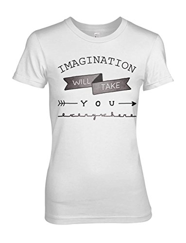Imagination Will Take You Everywhere Inspiration Motivation Damen T-Shirt Weiß