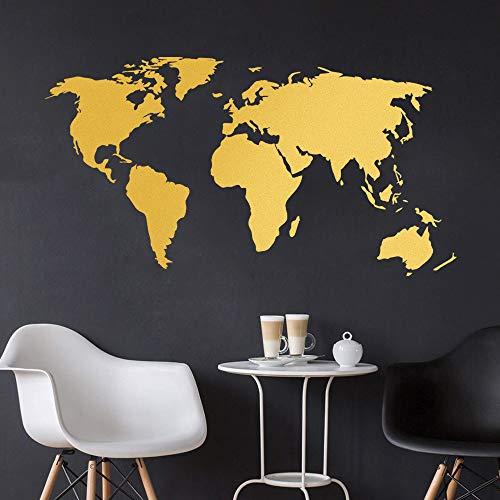 Decalmile Pegatinas Pared Mapa Mundo Vinilos Decorativas
