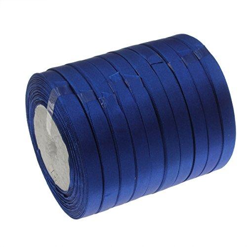 SATINBAND (Doppelsatinband) 22 m x 10mm Blau Schleifenband DEKOBAND GESCHENKBAND SCHMUCKBAND (Opal Kostüm Ring)