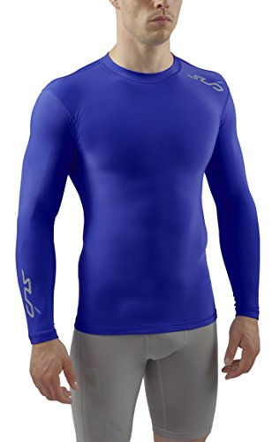Sub Sports Herren Cold Kompressionsshirt Thermisch Funktionswäsche Base Layer langarm, Royal, L