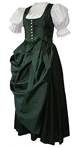 Dirndl Dirndlkleid Festtracht Trachten-Kleid Trachtenkleid elegantes Abendkleid Taft grün mit...