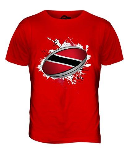 CandyMix Trinidad Und Tobago Rugby Ball Herren T Shirt Rot