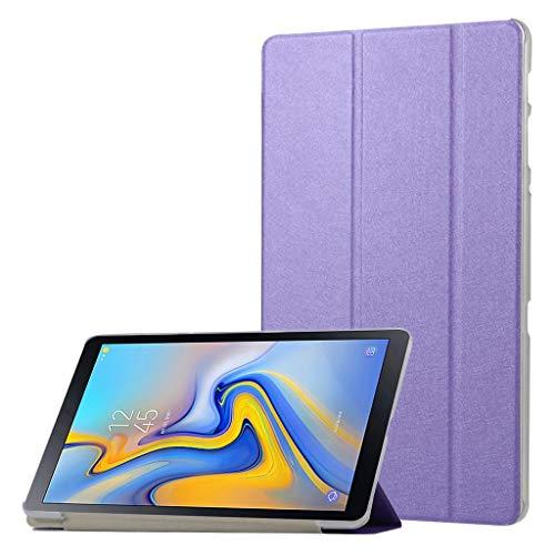 QHJ Hülle für Samsung Galaxy Tab A 10.1 Zoll 2019,Ultra Slim Lightweight Stand Case Schutzhülle für Samsung Galaxy Tab A 10.1 T510 T515 (Lila) - 2 Samsung Tab Lila Galaxy Case