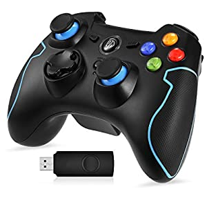 PC Gamepad, EasySMX 2.4G Wireless PS3 Controller, Gaming Controller, Dual Shock, Turbo für PS3/PC/Android TV-Box
