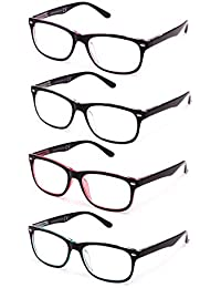 Pack de 4 Gafas de Lectura Vista Cansada Presbicia, Gafas de Hombre y Mujer Unisex