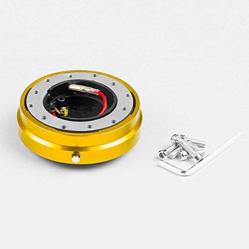 BEESCLOVER Kit d'adaptateur de moyeu cannelé à dégagement Rapide pour Volant de Course en Titane