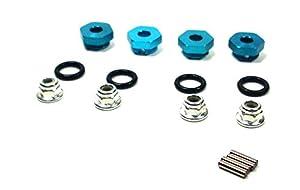 Carson 500405445 - Accesorios de modelización: X10EB / T Cubos de Ruedas de Aluminio, 4 Piezas