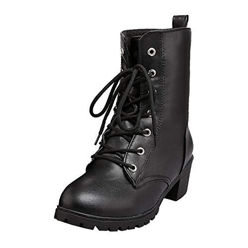 Damen Stiefeletten Winter Gefüttert Combat Boots Worker Stiefel Schuhe DOLDOA