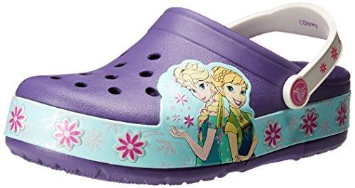 Crocs CrocsLights FrozenFever Clog, Sabots FIlle Bleu (Blue Violet)