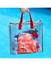 SWD Prime Transparent PVC Handbag Waterproof Travel Swimming Storage Bag Beach Clothes Bags