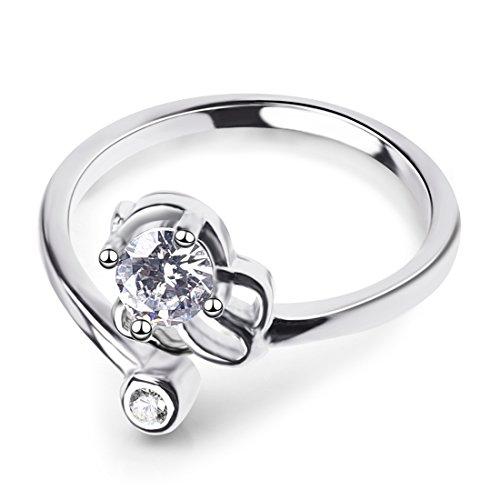 Crystal Strass Sternbild Leo Ring For Frau Mädchen (Ideen Für Nägel Für Halloween)