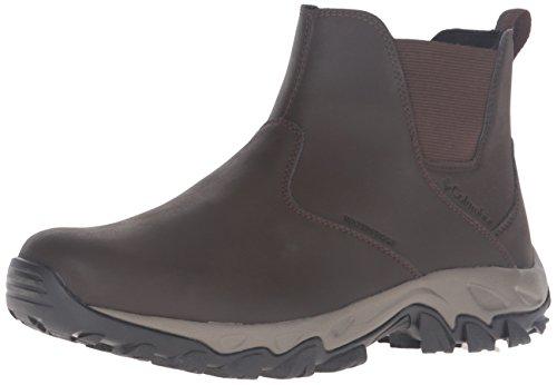 Columbia Mens Newton Ridge Plus Waterproof Slip On Shoes Cordovan/Squash