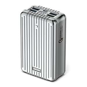 ZENDURE A8 Batteria di Emergenza Esterna del Caricabatteria 26800mAh Portable [Mostro Quick-Charge] - Con Display a LED e la Tecnologia Digitale Fast Charge 3.0 Qualcomm per iPad, iPhone, Samsung e altri iOS e Android (Argento)