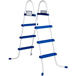 Intex 28060 - Escalera para piscinas (91 cm, acero inoxidable, tres peldaños)