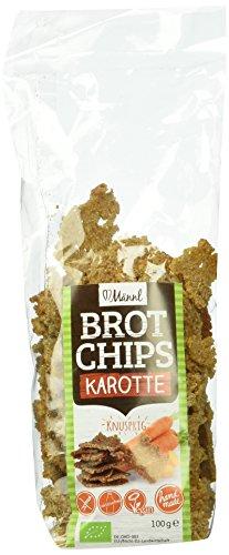 Preisvergleich Produktbild Männl Brotchips Karotte,  4er Pack (4 x 100 g)