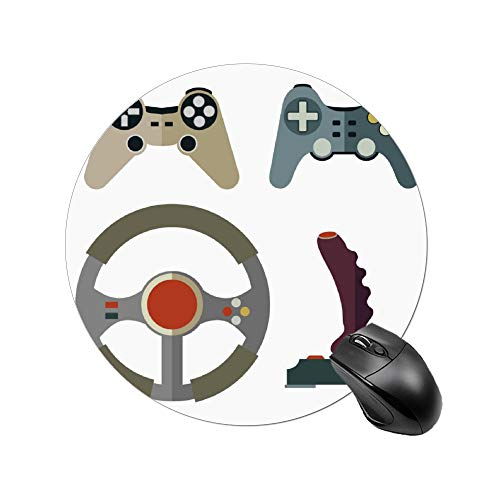 Padida Gaming Mauspad, Linie, flache Farbe, Computer-Teile, personalisiertes Design, rutschfestes Gummi-Mauspad size4 Color4 - Genähte Linie